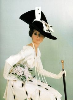 My Fair Lady (Audrey Hepburn) this was an alternate idea for the famous Ascot outfit - movie 1964