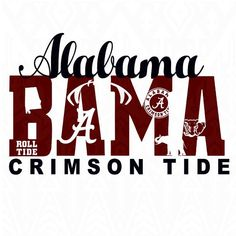 Alabama Crimson Tide Alabama svgcrimson svgroll tide by Dxfstore