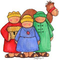 Three Kings-I just thought this looked cute Christmas Nativity, Christmas Art, Christmas Holidays, Christmas Decorations, Xmas, Christmas Ornaments, Christmas Clipart, Christmas Doodles, Christmas Drawing
