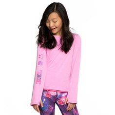 Pink Reversible Long Sleeve Tee
