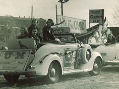 The Charity Ball float in the 1939 University of Minnesota Homecoming parade.