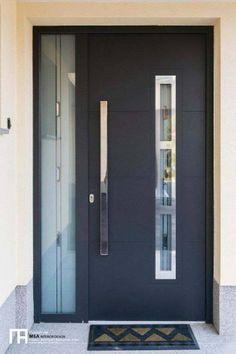 contemporary front doors for homes Contemporary front door design Contemporary Front Doors, Modern Front Door, Front Entry, Main Door Design, Front Door Design, House Doors, Room Doors, Black Front Doors, Black Door