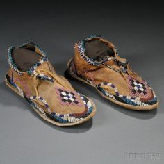 Chiricahua Apache Moccasins 1880 1885 Pieces Of Who I Am