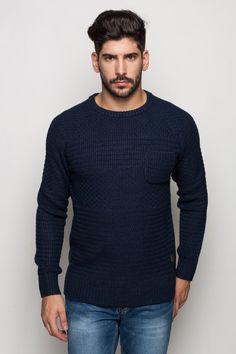 Férfi kötött pulóver, többféle színkombnációban.