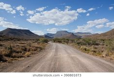 A dirt track leads invitingly into the mountains on a sunny summer's day in the Karoo, South Africa Royalty Free Images, Royalty Free Stock Photos, Dirt Track, Afrikaans, Summer Days, South Africa, Country Roads, Mountains, Illustration