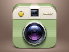 Nice iOS camera icon found on Dribbble.