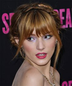 Bella Thorne Updo. Click on the image to try on this hairstyle!