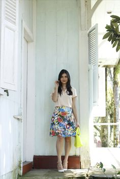 Saia floral  Mais looks: @crisfeelix