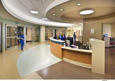 Lodi Memorial Hospital, South Tower < HDR, Inc. Modern Hospital, New Hospital, Hospital Room, Memorial Hospital, Hospital Architecture, Healthcare Architecture, Healthcare Design, Architecture Design, Commercial Interior Design