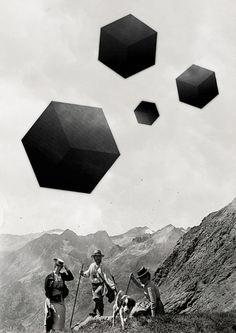Por Erik M▲nsson / Sacred Geometry Collages, Digital Collage, Collage Art, Bizarre, Monochrom, Hipster, Illustrations, Sacred Geometry, Art Forms