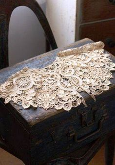 Old trunk and lace