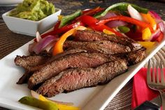 Gourmet primal served sizzling hot off the grill. The special marinade recipe sends this juicy and tender grilled flank steak dish over the top. Give this Paleo Balsamic Marinated Flank Steak with Grilled Veggies Recipe a try! Marinated Flank Steak, Flank Steak Recipes, Beef Flank Steak, Grilled Steak Recipes, Veggie Recipes, Beef Recipes, Real Food Recipes, Dinner Recipes, Cooking Recipes
