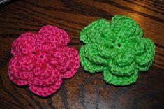 Triple Threat FREE Crochet Flower Pattern at www.cre8tioncrochet.com