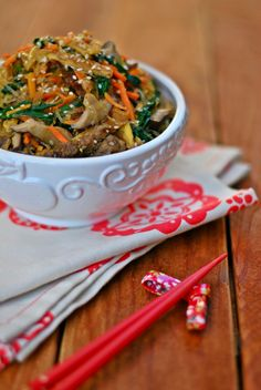 Jap Chae from Paleo Foodie Kitchen