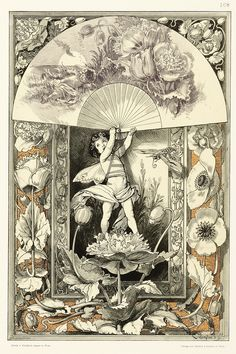 Important and highly influential German Art Nouveau series showing the use of the plant in art and trade. Anton Seder was the first director of the Ecole Supérieure des Arts Décoratifs in Strasbourg. Anton Johann Seder was born in Munich an Art Nouveau, Art Deco, Botanical Art, Botanical Illustration, Illustration Art, Illustrations, Antique Prints, Gravure, Art Inspo