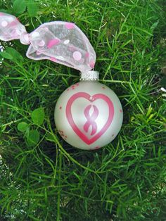 Breast Cancer Ribbon Ornament