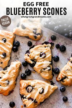 The paleo and vegan blueberry scones are perfectly soft and flaky, relatively low in sugar, and just so delicious for a snack or a weekend brunch. You use fresh or frozen blueberries, and they are so easy to make! #scones #eggfreedessert #grainfreebaking #paleodessert #vegandessert