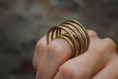 Rimg by Jasmina 2013 Brass Gold Rings, Fashion Jewelry, Brass, Style, Ring, Copper, Stylish Jewelry