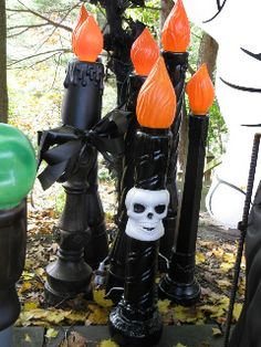 candle stick blow molds halloween | ... Christmas blowmolds into whimsical Halloween decorations. - Page 4