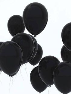 black balloons. inspiration for #black #gems