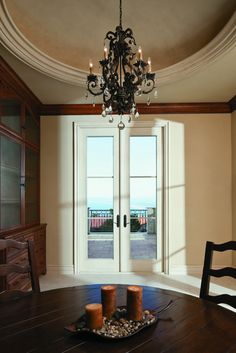 White Andersen French Inswing Classic French Doors With Horizontal Grids    Patio