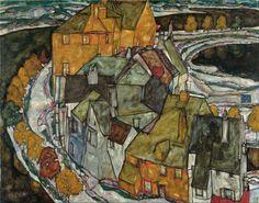 Egon Schiele - Crescent of Houses II (Island Town), 1915