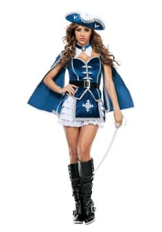 Fight for your fellow musketeers and watch them fall all over themselves to fight for your love when you wear this sexy Women's All For You Musketeer Costume.