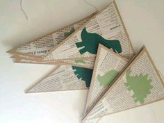 For library- book pages...then seasonal or themed shape cut outs (dr. Seuss hat, etc)