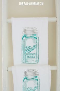 antique mason jar flour sack dishtowels from lemonade makin mama