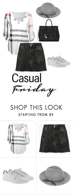 """""""Inverted Triangle Shape- Casual"""" by jess-thomas14 on Polyvore featuring RE/DONE, Yves Saint Laurent and Accessorize"""
