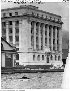 1918 Harbor Commission Office. Note that the lake was at the front door before the big landfill project.