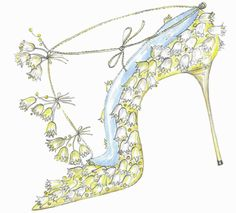 Manolo Blahnik... Kate Middleton shoe illustration.