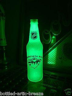 NHL Minnesota Wild Hockey 12 oz Beer Bottle Light LED Neon Bar Pub BTC