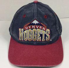 2728bc2036109 Denver Nuggets NBA Snapback Cap Hat Denim Basketball Embroidered Logo  TEI   DenverNuggets