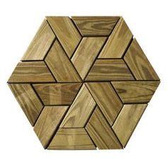 Honey Deck Deck Medallion A Piece 2.75 square feet