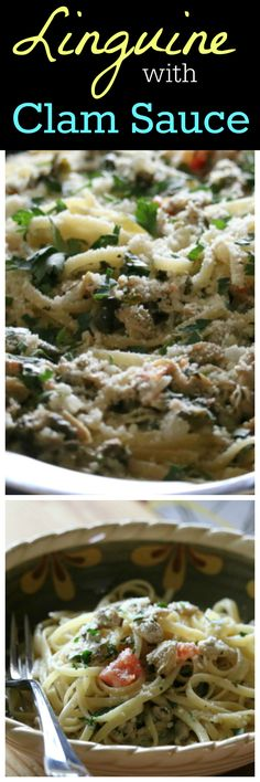 Linguine with White Wine Clam Sauce Recipe CeceliasGoodStuff.com Good Food for Good People
