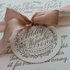 Our rose #froufrouchic is wrapped around the most gorgeous @hollychollon invitation suites