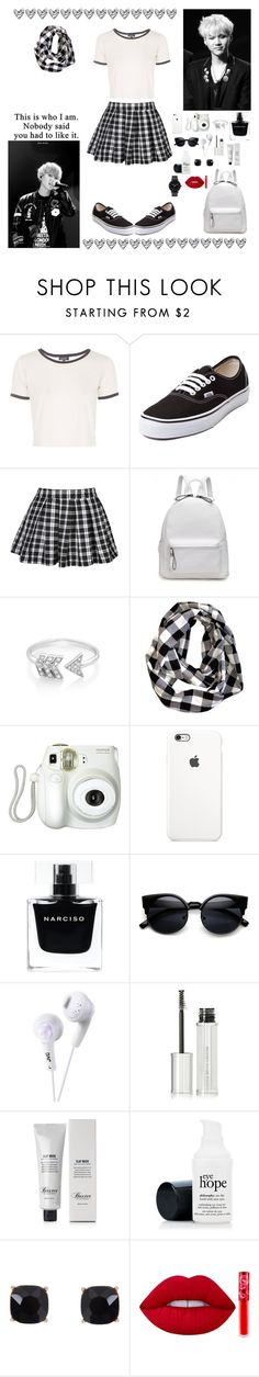"""""""~This Is Who I Am. Nobody Said You Had To Like It~"""" by hyuna-yoona ❤ liked on Polyvore featuring Topshop, Vans, EF Collection, Branca, Narciso Rodriguez, JVC, Givenchy, Baxter of California, Humble Chic and Lime Crime"""
