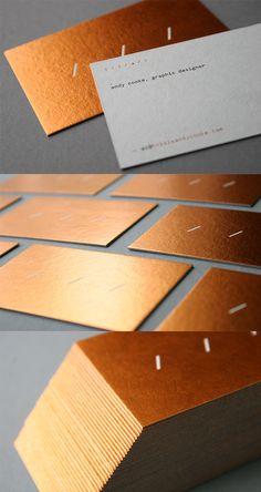 Hot Foil Stamped And Letterpress Business Card For A Graphic Designer