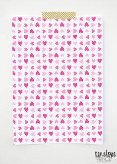 {penelope prince} free vday hearts...downloadable wrapping paper... print on your home computer