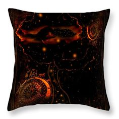 Art Throw Pillow featuring the digital art The Dreaming Tree by Anna Belanger