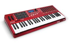 Akai Max49 controller keyboard.It can control MIDI devices and digital audio workstation software. And also analog synths via CV/Gate.