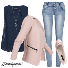 Gib Kette mit diesem Outfit! #77onlineshop #damenblazer #blazer #outfit #damenoutfit #styleboom #businesslook #businessoutfit #frauenoutfit