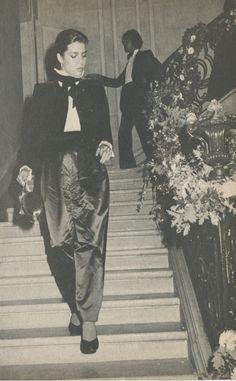 Princess Caroline of Monaco at Théâtre des Champs Élyseés.October,1979.