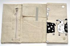 Knitting needle / crochet hook case by Etsy seller KnitterBag