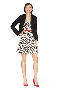 The Kate Young Target Line Is Here  Dress in Leopard Print with Belt, $49.99; Satin Blazer in Black, $49.99