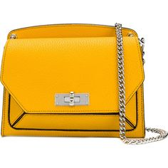 Bally Suzy small shoulder bag ($1,230) ❤ liked on Polyvore featuring bags, handbags, shoulder bags, bally purse, orange shoulder bag, chain strap purse, orange handbags and shoulder hand bags