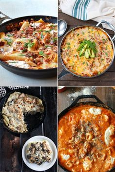 Let's talk about lasagna — the easy way. Lasagna at its most time-consuming is a labor of love, made with homemade sauce, slow-cooked meat, and perhaps Mama's handmade noodles. This is a treat, but it doesn't mean that you can't also do it quicker from time to time. These four skillet lasagnas show us how.