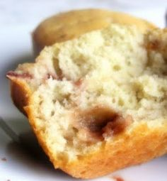 light strawberry and cream cheese muffins