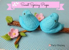 Sweet Spring Peeps - Party Planning - Party Ideas - Cute Food - Holiday Ideas -Tablescapes - Special Occasions And Events - Party Pinching